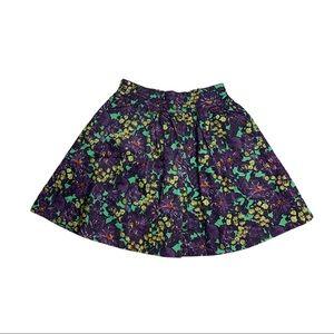 J Crew • Floral Cotton Skirt Size 0